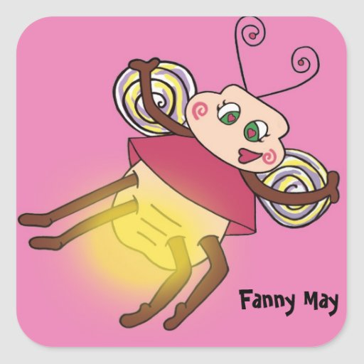 Fanny May The Firefly Square Sticker