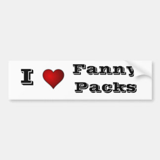fanny packs bumper sticker