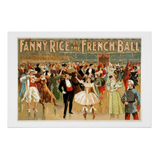 Fanny Rice at the French Ball Poster