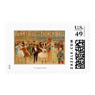 Fanny Rice at the French Ball Theatrical Postage