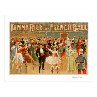 Fanny Rice at the French Ball Theatrical Postcard