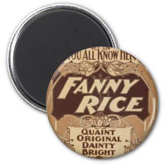 Fanny Rice, 'Quaint Original Dainty Bright' Fridge Magnets