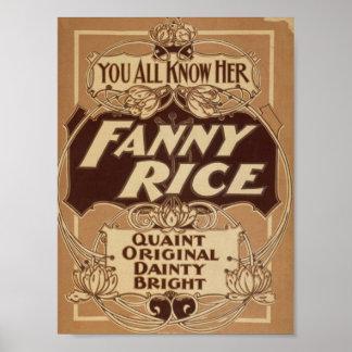 Fanny Rice, 'Quaint Original Dainty Bright' Poster