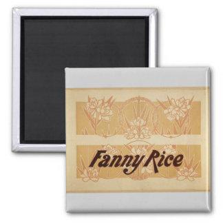 Fanny Rice  Retro Theater Fridge Magnets