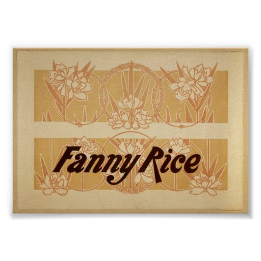 Fanny Rice Vintage Theatrical Poster