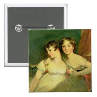 Fanny y Jane Hamond Pin Cuadrado