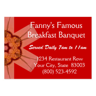 Fanny's Famous Breakfast Banquet Large Business Cards (Pack Of 100)