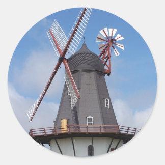 Fanoe Windmill Denmark Classic Round Sticker