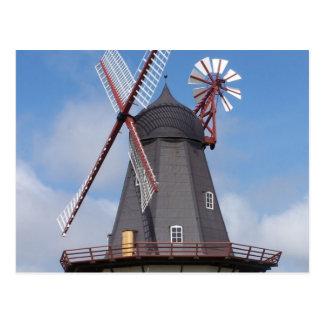 Fanoe Windmill Denmark Postcard