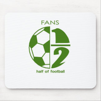 fans are half of football mouse pad