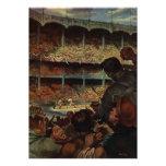 Fans de deportes del vintage; Estadio de béisbol Invitaciones Personalizada