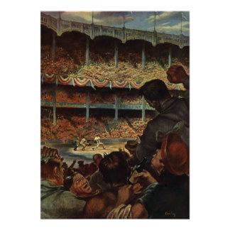 Fans de deportes del vintage Estadio de béisbol Invitaciones Personalizada