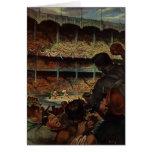 Fans de deportes del vintage; Estadio de béisbol Tarjeta