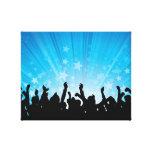 Fans del concierto impresiones en lienzo estiradas
