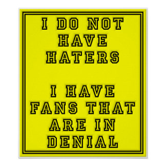 Fans in Denial Funny Poster