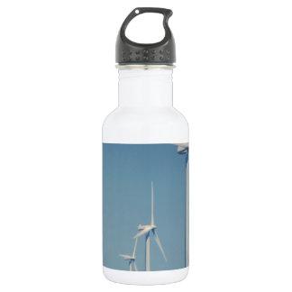 FANS of Alternative Energy : WIND, Solar, Friends Stainless Steel Water Bottle