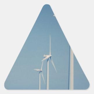 FANS of Alternative Energy : WIND, Solar, Friends Triangle Sticker