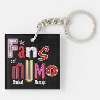 Fans of Mumo Square KeychaiM Double-Sided Square Acrylic Keychain