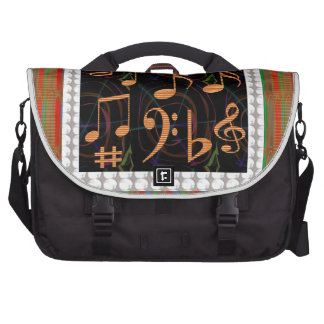Fans Students of Music Symbol Art Display gifts 99 Laptop Commuter Bag