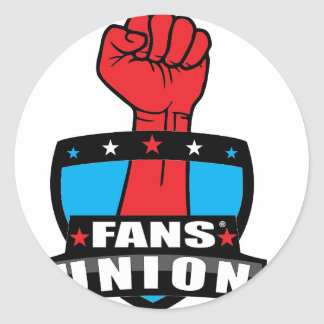 FANS' UNION PRODUCTS (Logo 1) Classic Round Sticker