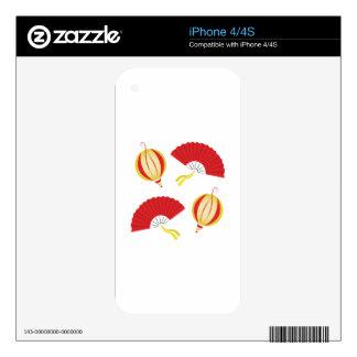 Fans y linternas calcomanías para el iPhone 4