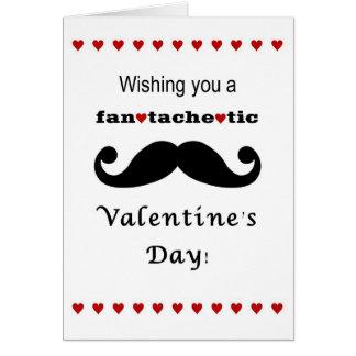 Fantachetic Mustache Valentine's day card