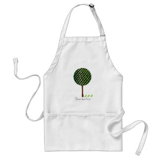 Fantail Bird Tree Customizeable Design Adult Apron