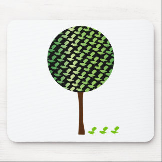 Fantail Bird Tree Customizeable Design Mouse Pads