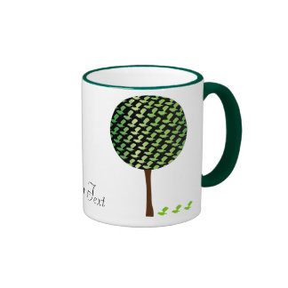 Fantail Bird Tree Customizeable Design Mugs