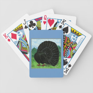 Fantail:  Black Bicycle Playing Cards