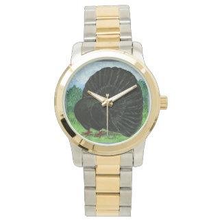 Fantail:  Black Wrist Watches