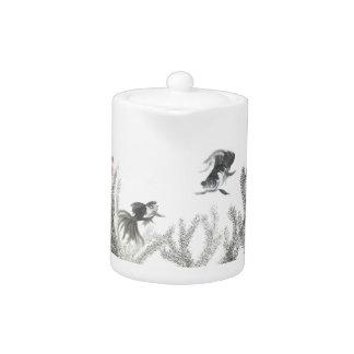 Fantail Goldfish Art Teapot