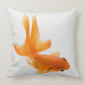 Fantail goldfish (Carassius auratus) 2 Throw Pillow