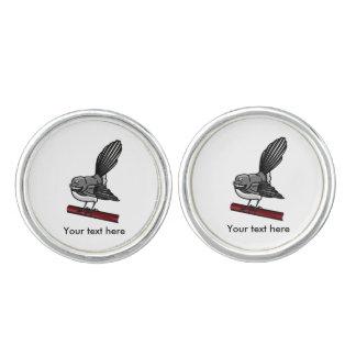 Fantail New Zealand And  Australasian Bird Cufflinks