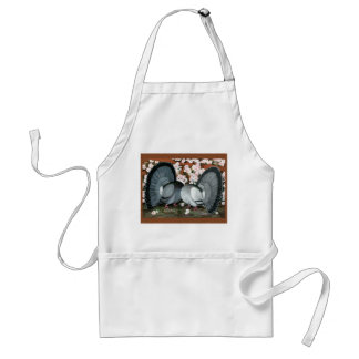 Fantail Pigeons Matched Pair Adult Apron