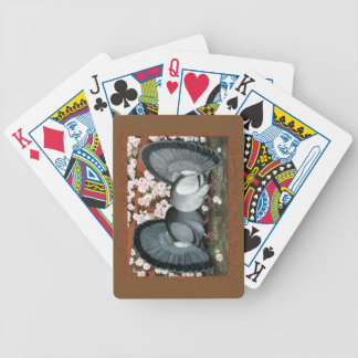 Fantail Pigeons Matched Pair Bicycle Playing Cards