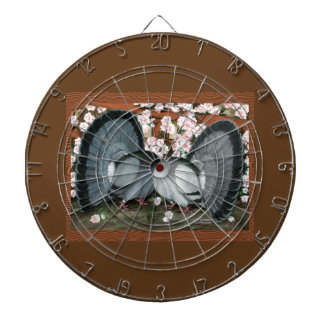 Fantail Pigeons Matched Pair Dart Board