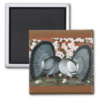 Fantail Pigeons Matched Pair Magnet