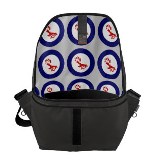 Fantail PIWAKAWAKA Roundel Courier Bag