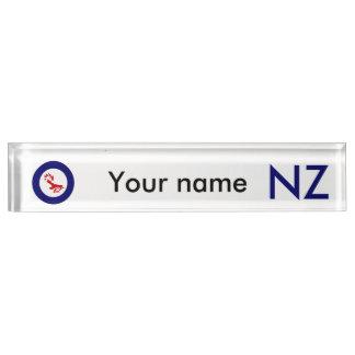 Fantail Roundel Desk Nameplates