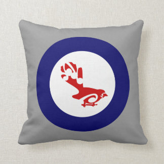 Fantail Roundel Throw Pillow
