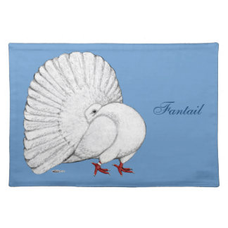 Fantail:  White Cloth Placemat