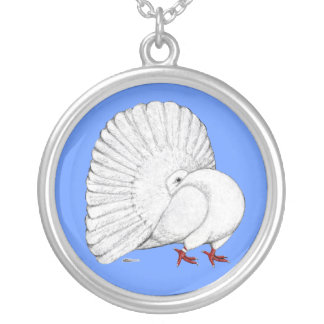 Fantail:  White Necklace