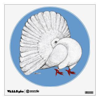 Fantail:  White Room Sticker