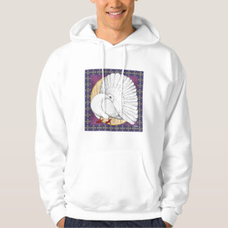 Fantail:  White With Background Hoodie
