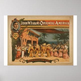 "Fantaisies D. Orient, Th del vintage de ""Juan W. I Póster"