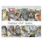 Fantasía 2015 del zodiaco de las pinturas de los calendarios de pared