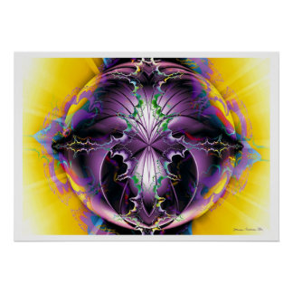 Fantasía 5 del fractal posters