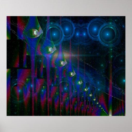 Fantasía abstracta de las puertas de la ciencia fi impresiones