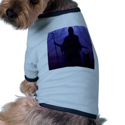 Fantasía abstracta Shepard de la muerte Camiseta Con Mangas Para Perro